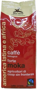 ALCE NERO Kawa 100% Arabica Robusta Strong mielona FT BIO 250g